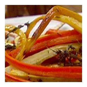 roasted-carrots-and-parsnips-with-thyme-food-network image