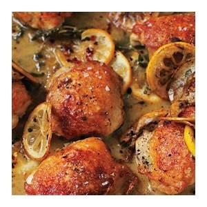 roasted-chicken-thighs-with-lemon-and-oregano-recipe-bon image