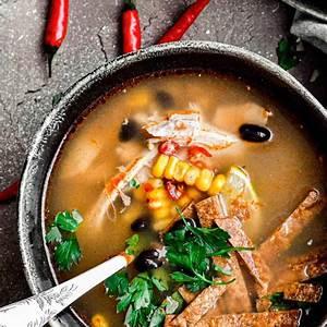 homemade-chicken-tortilla-soup-recipe-easy image
