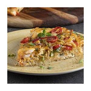 healthy-chicken-and-pasta-frittata-high-protein image