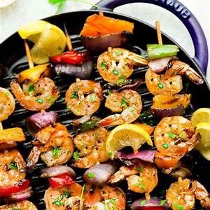 grilled-lemon-garlic-butter-shrimp-with-vegetables-the image