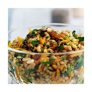 carrot-and-barley-salad-with-dates-and-raisins-gourmet image