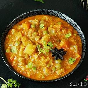 veg-kurma-recipe-vegetable-korma-swasthis image
