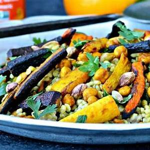 barley-salad-with-roasted-carrots-and-chickpeas-the image