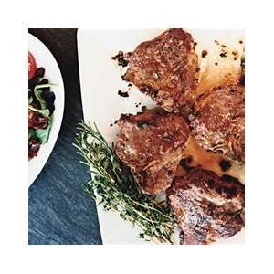 herb-roasted-lamb-chops-recipe-epicurious image