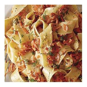 pappardelle-with-creamy-smoked-salmon-caper-and-dill image