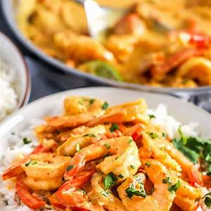 coconut-shrimp-curry-delicious-comforting-simple image