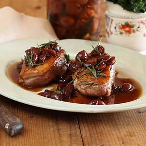 duck-breast-with-sour-cherries-recipe-maggie-beer image