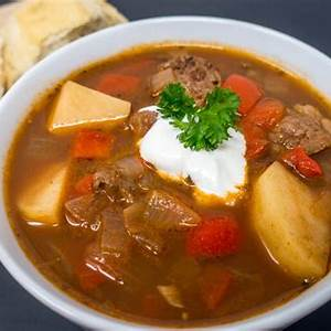 german-goulash-soup-gulaschsuppe-in-a-slow-cooker image