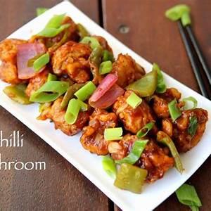 chilli-mushroom-recipe-chilli-mushroom-dry-mushroom image