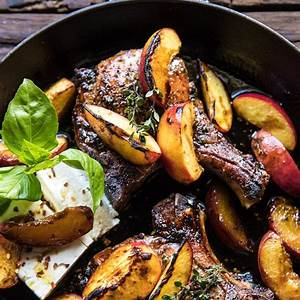 skillet-balsamic-peach-pork-chops-half-baked-harvest image