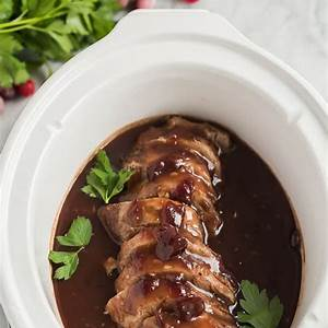 crock-pot-pork-tenderloin-with-cranberry-sauce-the image