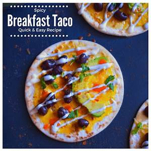 spicy-breakfast-taco-quick-and-easy-recipe-breakfast image