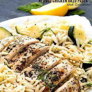 herbed-chicken-orzo-pasta-and-zucchini-fitness-food image