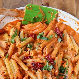 mozzarella-penne-rosa-pasta-with-sun-dried-tomatoes image