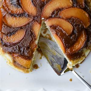 caramelized-fresh-peach-upside-down-cake-linger image