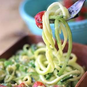 creamy-avocado-zucchini-pasta-healthy-summer image