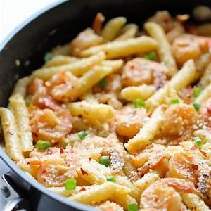 spicy-parmesan-shrimp-pasta-damn-delicious image