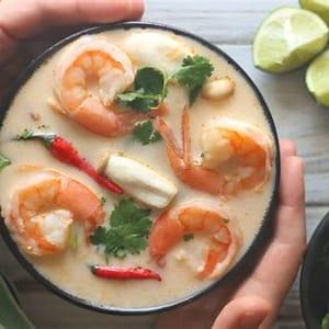 keto-tom-yum-soup-low-carb-thai-shrimp-soup image