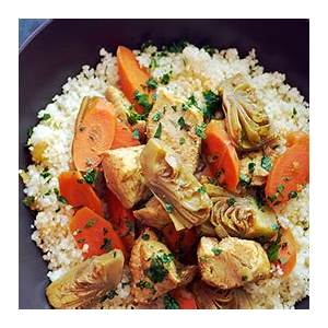 moroccan-chicken-stew-with-artichoke-hearts-and-carrots image