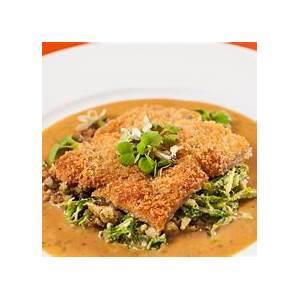 duck-schnitzel-with-honey-mustard-pretzel-maple-leaf-farms image