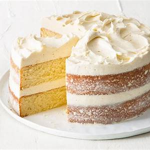 vanilla-layer-cake-with-creamy-vanilla-frosting-bake image