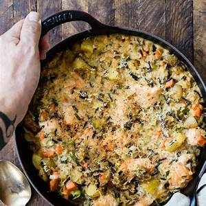 baked-salmon-and-wild-rice-casserole-foodness-gracious image