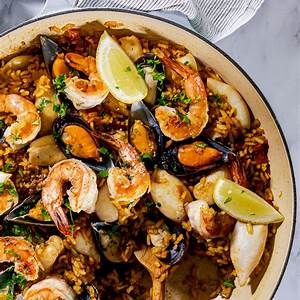 seafood-paella-simply-delicious image