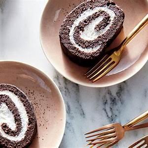 chocolate-yule-log-recipe-cooking-light image