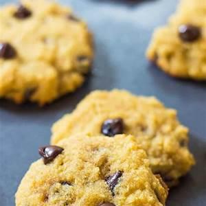 soft-coconut-flour-chocolate-chip-cookies-leelalicious image