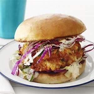 creole-crab-burger-recipe-food-network-kitchen-food image