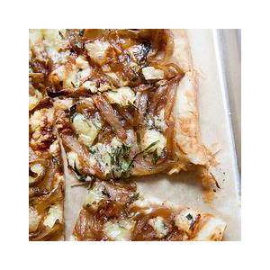 caramelized-onion-tart-with-gorgonzola-and-brie image