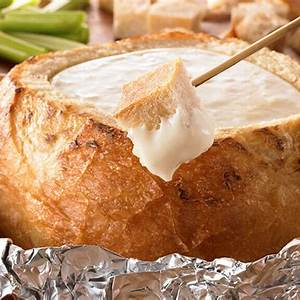 grilled-3-cheese-fondue-bread-bowl-recipe-land-olakes image