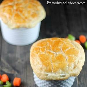 quick-and-easy-chicken-pot-pies-recipe-with-puff-pastry-crust image