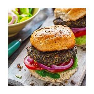 vegan-lentil-mushroom-burgers-recipe-purewow image