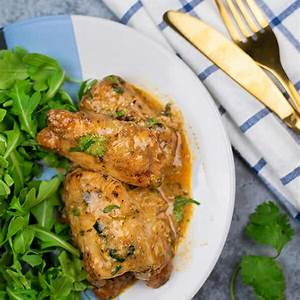 instant-pot-creamy-cilantro-chicken-thighs-recipe-teacher image