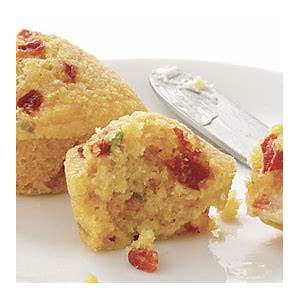 corn-muffins-with-roasted-red-peppers-scallions-cheddar image