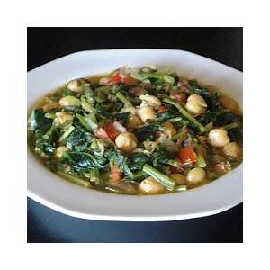 authentic-greek-recipes-greek-chickpeas-with-spinach image