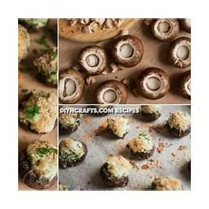 cheesy-spinach-stuffed-mushrooms-recipe-diy-crafts image