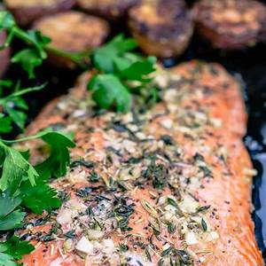 slow-roasted-salmon-and-potatoes-mediterranean-style image