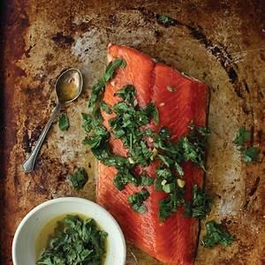 slow-roasted-salmon-with-chimichurri-kitchn image