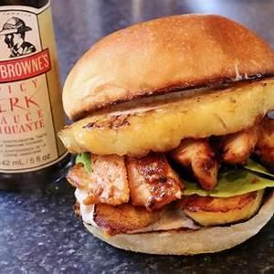 pineapple-plantain-jamaican-jerk-chicken-burger image