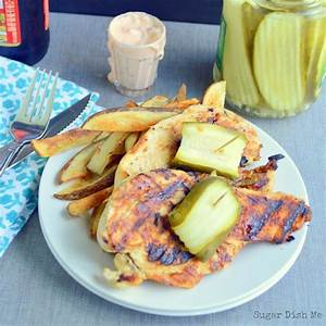 pickle-chicken-with-garlic-fries-and-spicy-pickle-dip-sugar-dish-me image