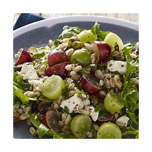 farro-salad-with-grapes-pistachios-and-feta image