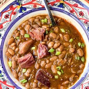 southern-pinto-beans-with-ham-shanks-creole-contessa image