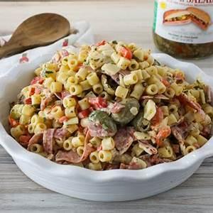 muffuletta-pasta-salad-recipe-blue-plate-mayonnaise image