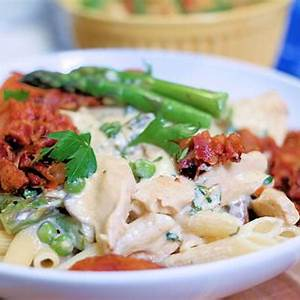 chicken-and-pancetta-penne-for-two-newlywed-survival image