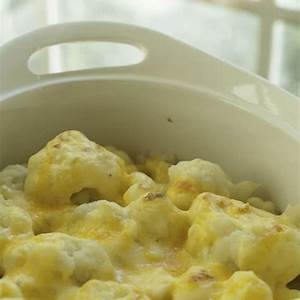 baked-cauliflower-with-cheddar-cheese-sauce image