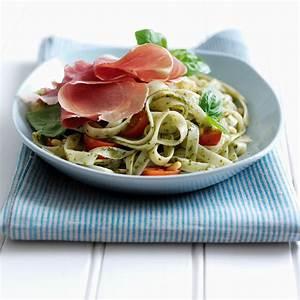 fresh-pesto-pasta-with-parma-ham-consorzio-del image