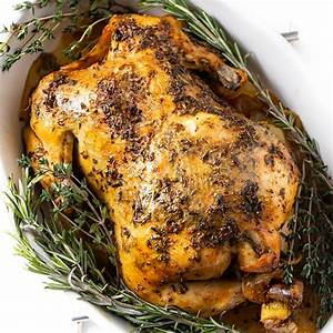 crock-pot-whole-chicken-recipe-with-garlic-herb-butter image